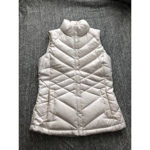 The North Face white vest size xs